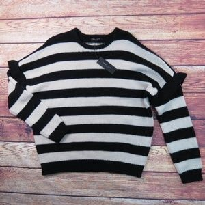 Romeo and Juliet Couture Striped Ruffle Sweater